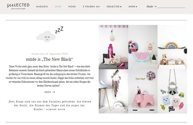 "BLOG:  Seelected - müde is ""The New Black"" – Shop the LOOK"