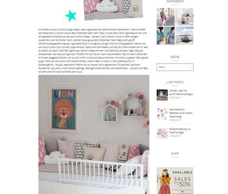Blog: MOTHER'S FINEST – Valeries neues Bett